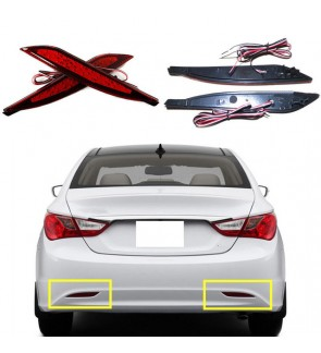 Hyundai Sonata Rear Bumper Reflector Led Red