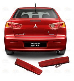 Mitshubishi Lancer Rear Bumper Reflector Led Red