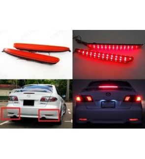 Mazda 6 Rear Bumper Safety Reflector Led Light Red