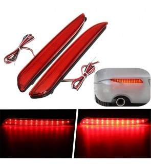 Mazda 2 3 8 Rear Bumper Reflector Led Red