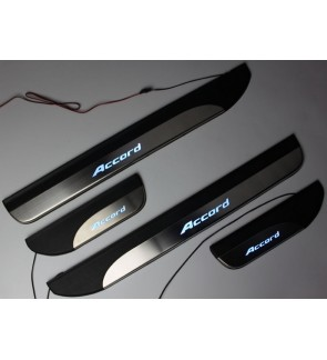 HONDA ACCORD 2013 BLUE LED CAR DOOR SIDE SILL STEP PLATE (4 PCS)