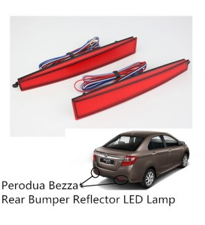 Perodua Bezza Rear Bumper Reflector Led Red