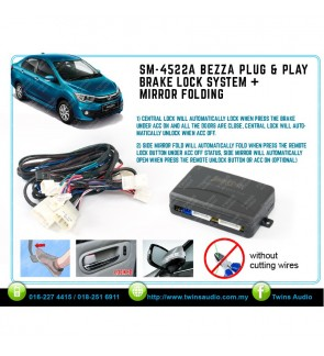 Perodua Bezza Brake Lock System + Side Mirror Fold Plug And Play