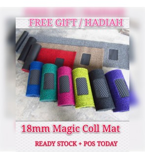 READY STOCK 18mm Universal OEM Car Coil Floor Mat Magic Grip Backing One Roll