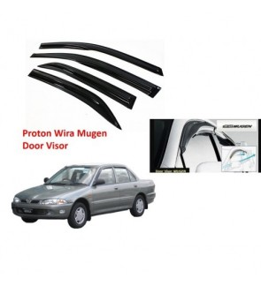 Air Press Window Door Visor Wind Deflector Mugen for Proton Wira