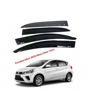 Mugen Air Press Window Door Visor Wind Deflector for Perodua Myvi 2018