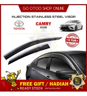 Injection Stainless Steel Door Visor For Toyota Camry 2018