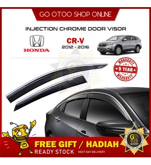 Chrome Line Mugen Air Press Window Injection Door Visor For Honda CRV 2012-2016