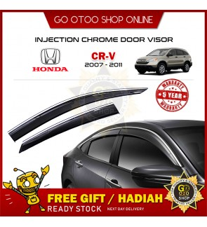 Chrome Line Mugen Air Press Injection Window Injection Door Visor Wind Deflector Fore Honda CRV 2007-2011