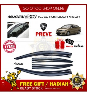 Mugen Air Press Window Door Visor Wind Deflector For Proton Preve