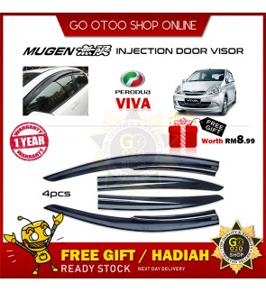 Mugen Air Press Window Door Visor Wind Deflector For Perodua Viva