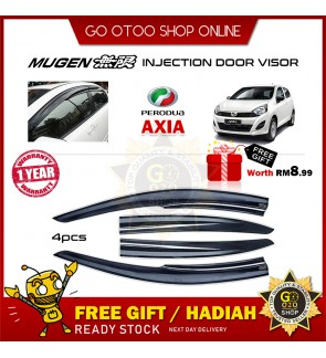 Mugen Air Press Window Door Visor Wind Deflector  Perodua Axia