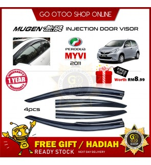 Mugen Air Press Window Door Visor Wind Deflector For Perodua Myvi 2011