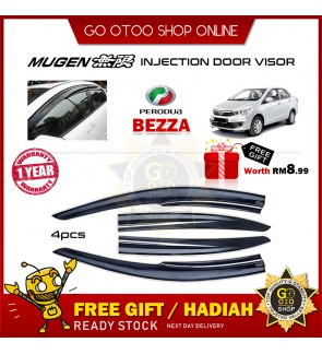 Mugen Air Press Window Door Visor Wind Deflector For Perodua Bezza