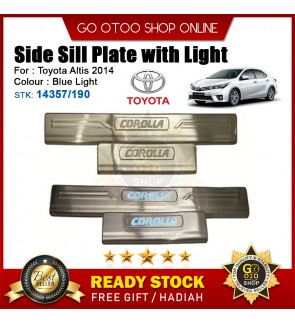 Altis 2014 OEM Plug & Play Stainless Steel Blue LED Car Door Side Sill Step Plate