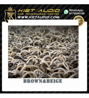 RUBBER MAT FOR ALL KIND OF CARS (BROWN&BEIGE)COLOUR