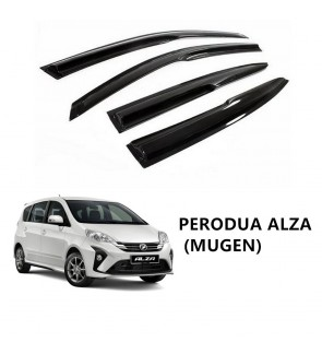 Mugen Air Press Window Door Visor Wind Deflector For Perodua Alza