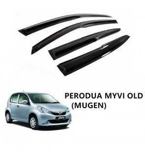 Mugen Air Press Window Door Visor Wind Deflector for Perodua Myvi Old