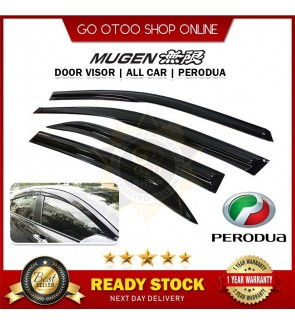 Mugen Air Press Window Door Visor Wind Deflector For Perodua ALZA / AXIA / BEZZA / MYVI 2005 / MYVI 2012 / MYVI ICON / MYVI 2018 / VIVA / KANCIL
