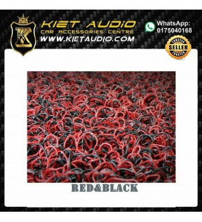 RUBBER MAT FOR ALL CAR (RED&BLACK)COLOUR