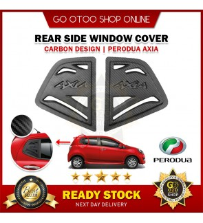 Axia Black Rear Side 3D Carbon Window Triangle Mirror Cover