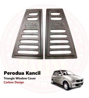 Kancil Black Rear Side 3d Carbon Window Triangle Mirror Cover