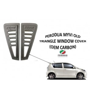 Myvi Old Black Rear Side 3d Carbon Window Triangle Mirror Cover Protector