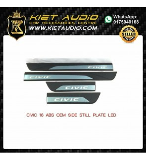 CIVIC 16 ABS OEM SIDE STILL PLATE LED