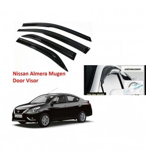 Mugen Air Press Window Mugen Door Visor Wind Deflector for Nissan Almera 2014