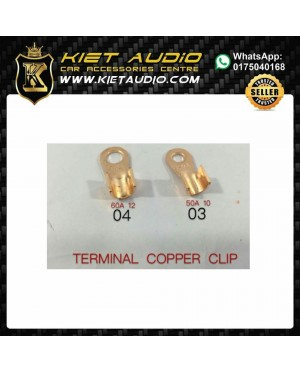 HX1863A Ring Type Copper Brass Terminal Clip (20PCS)