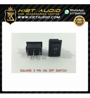 SQUARE 3 PIN ON OFF SWITCH