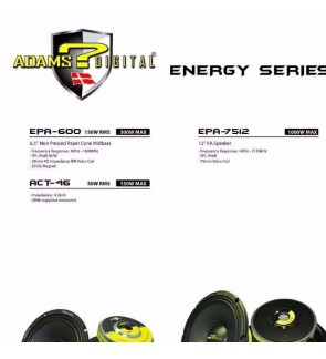 "Adams Digital EPA 600 Energy series 6.5"" speaker"