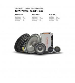 Adams Digital EMC 605/305/28 Empire Series 3 Way Car Speaker