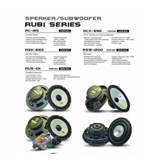 Adams Digital RC-165 Rubi Series 2 Way Speaker System 250w