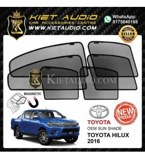 OEM MAGNETIC SUN SHADE FOR TOYOTA HILLUX 2016 (6PCS)