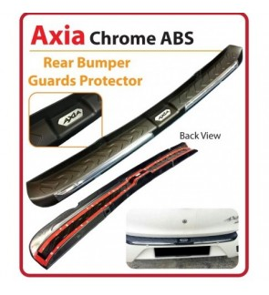 Axia G Spec  Rear Bumper Guards Protector Chrome ABS