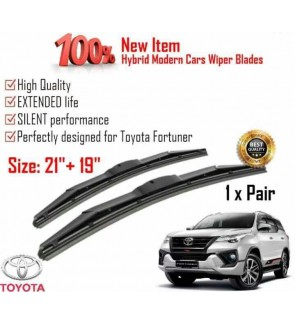"""100% High Quality Rubber Car Wiper Size (21"""" + 19"""") 1 Pair For Toyota Fortuner"""