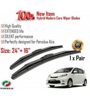 """100% High Quality Rubber Car Wiper Size (24"""" + 16"""") 1 Pair For Perodua Alza"""