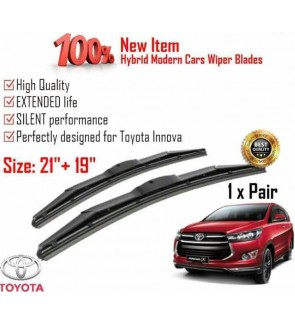 """100% High Quality Rubber Car Wiper Size (21"""" + 19"""") 1 Pair For Toyota Innova"""