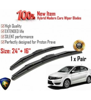 """100% High Quality Rubber Car Wiper Size (26"""" + 22"""") 1 Pair For Proton Preve"""