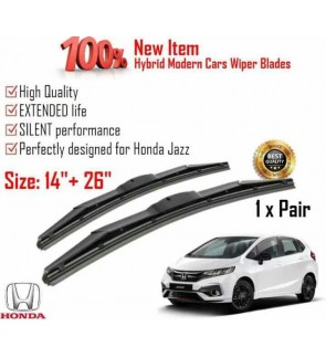 """100% High Quality Rubber Car Wiper Size (14"""" + 26"""") 1 Pair For Honda Jazz"""
