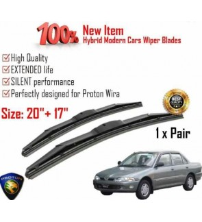 """100% High Quality Rubber Car Wiper Size (20"""" + 17"""") 1 Pair For Proton Wira"""