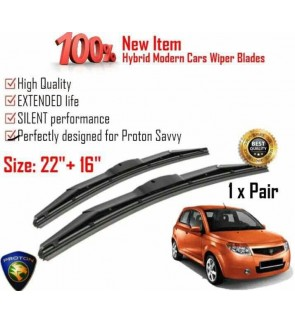 """100% High Quality Rubber Car Wiper Size (22"""" + 16"""") 1 Pair For Proton Savvy"""