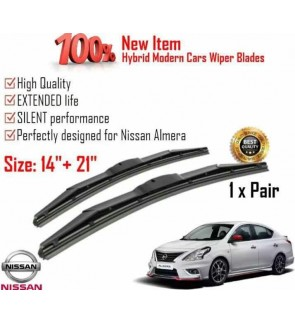 """100% High Quality Rubber Car Wiper Size (14"""" + 21"""") 1 Pair For Nissan Almera"""