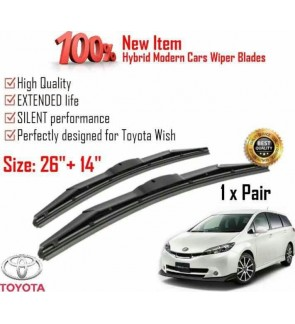 """100% High Quality Rubber Car Wiper Size (26"""" + 14"""") 1 Pair For Toyota wish"""