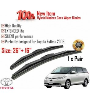 """100% High Quality Rubber Car Wiper Size (26"""" + 16"""") 1 Pair For Toyota Estima 2006"""