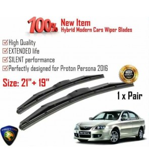 """100% High Quality Rubber Car Wiper Size (21"""" + 19"""") 1 Pair For Proton Persona 2016"""