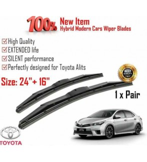 """100% High Quality Rubber Car Wiper Size (24"""" + 16"""") 1 Pair For Toyota Altis"""