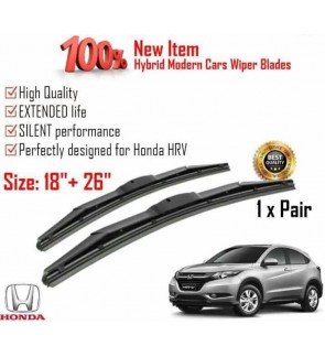"""100% High Quality Rubber Car Wiper Size (18"""" + 26"""") 1 Pair For Honda HRV"""