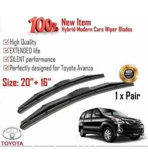"""100% High Quality Rubber Car Wiper Size (20"""" + 16"""") 1 Pair For Toyota Avanza"""